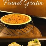 Pin image fennel and gratin with text overlay
