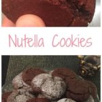 Pin image plate of nutella cookies and image showing nutella inside