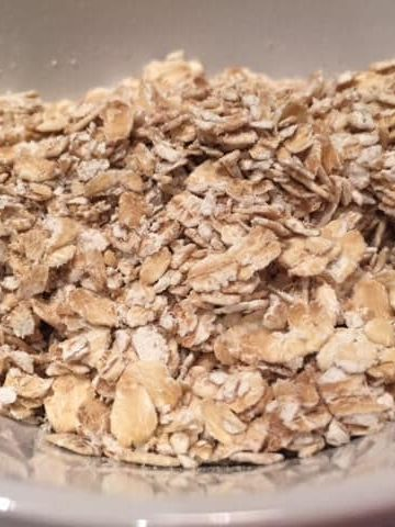 close up of dry oats