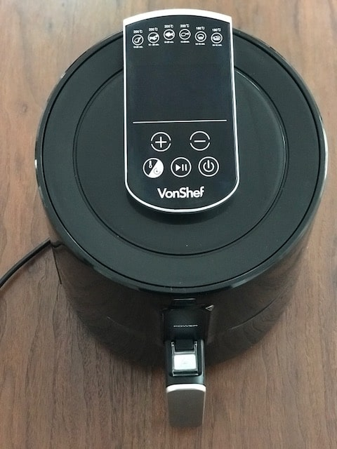 Ariel view of Vonshef Air fryer