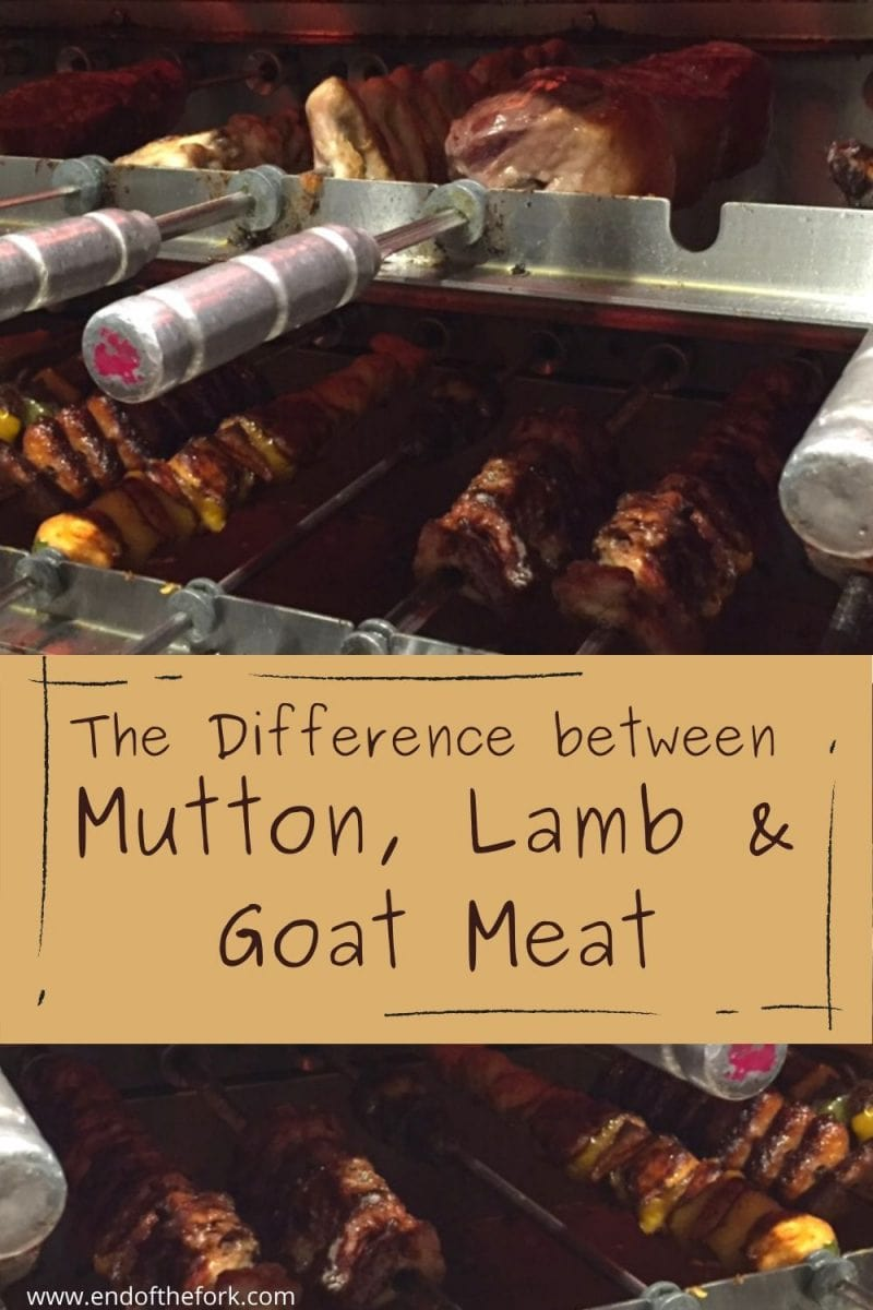 pin skewers of meat under grill