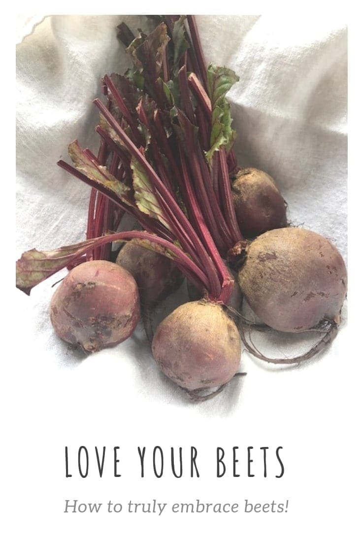 Pin image bunch of raw beets and text overlay