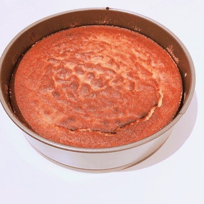 view of cooked cake