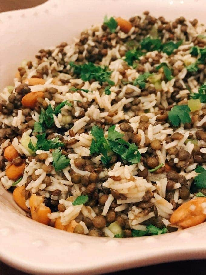 close up of Puy lentil Salad