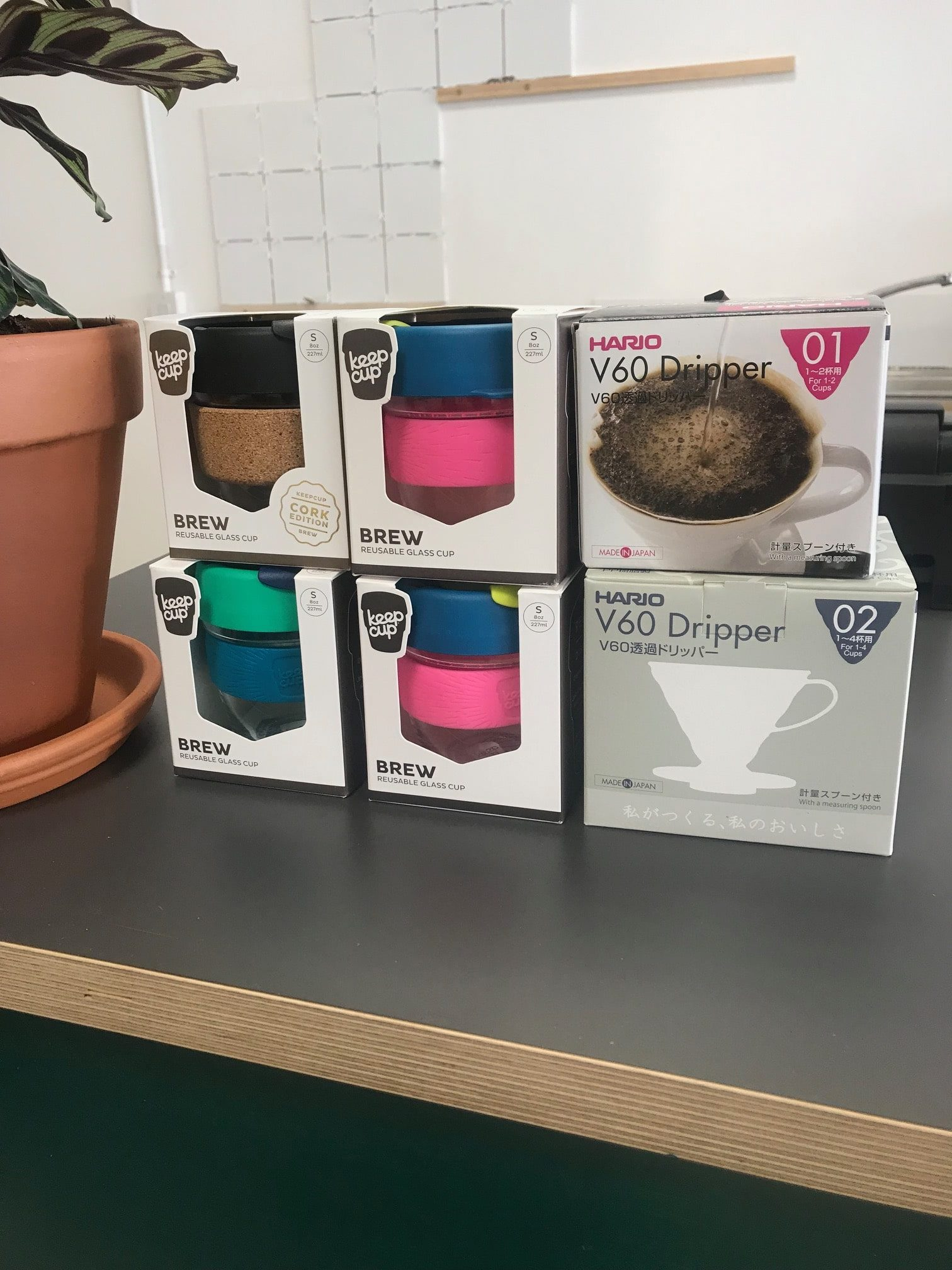 boxes of reusable keep cups for sale