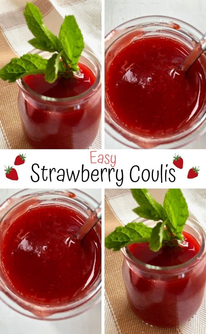 pin of strawberry coulis and text overlay
