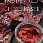 Pin image chilli paste with chillies and text overlay