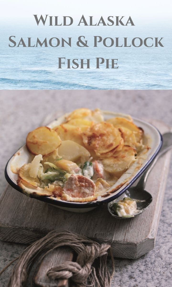 Pin image fish pie with text overlay