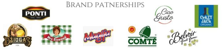 list of brand partnerships