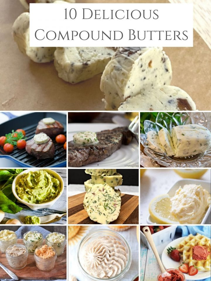 Images of the 10 compound butters