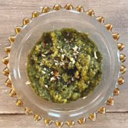 green halwa in bowl