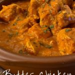 Pin image butter chicken with text overlay