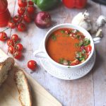 Pin image Gazpacho soup with fruit and vegetables
