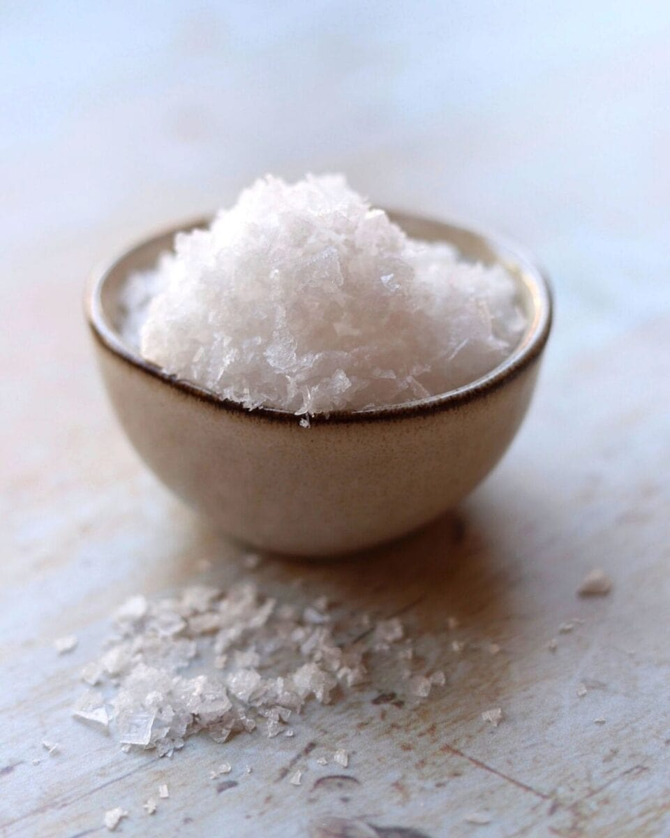 Pin image of salt in small bowl
