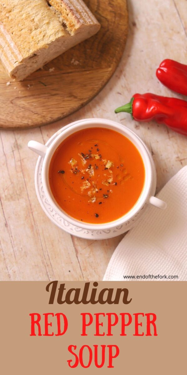 pin image of pepper soup in white bowl
