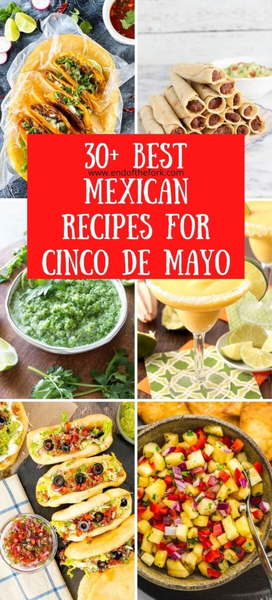 Pin image six images of Mexican food