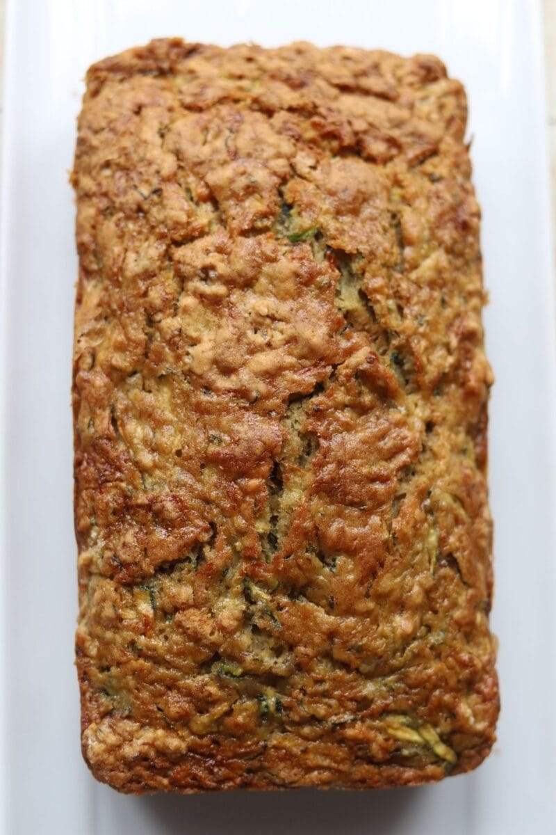 Full loaf of zucchini and banana bread.